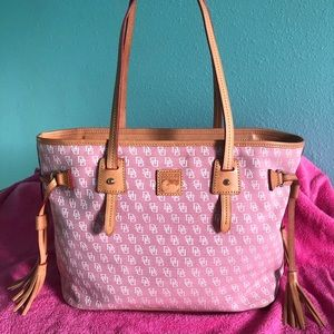 Dooney and Bourke Rose Canvas Purse